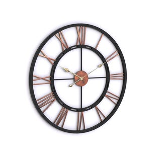 'Declan' Aged Copper and Black Wall Clock