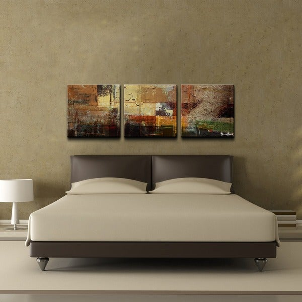alexis bueno 39 abstract 39 oversized canvas wall art 3 piece set overstock shopping top rated. Black Bedroom Furniture Sets. Home Design Ideas