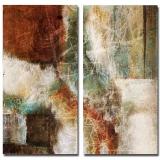 Bueno 'Abstract' Over-sized 2-piece Canvas Wall Art Set