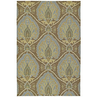 Fiesta Brown Indoor/ Outdoor Damask Rug (9'0 x 12'0)