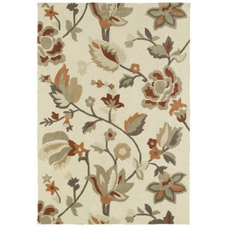 Brookside Ivory Garden Polyester Rug (7'6 x 9'0)