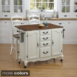 The French Countryside Kitchen Cart and Two Stools