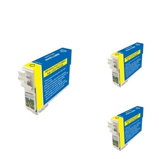 INSTEN Epson T124420 Yellow Cartridge Set (Remanufactured) (Pack of 3)