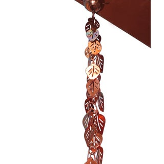 Cascading Leaves 8.5-foot Copper Rain Chain