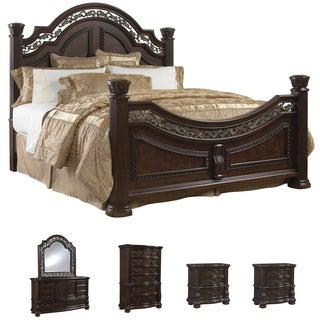 Tuscany 6-piece Mocha Finish King-size Bedroom Set