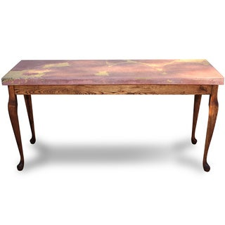 Recherche Furnishings Marbleized Sideboard Table