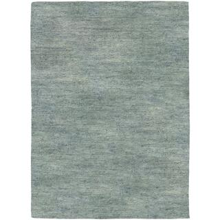 Aji Hand-loomed Anji/ Grey Area Rug (7'10 x 10'10)