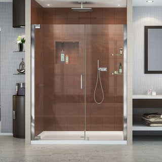 DreamLine Elegance Pivot Shower Door and 36x60-inch Shower Base