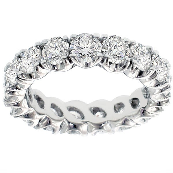 14k/ 18k Gold of Platinum 4ct TDW Diamond Eternity Band (F-G, SI1-SI2)