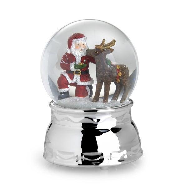 Towle Music Santa/ Reindeer Water Globe
