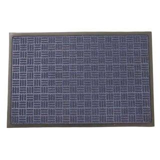 Rubber-Cal 'Wellington' Blue Entrance Carpet Mat (18 x 30 inches)