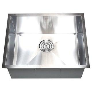 26-inch Stainless Steel Single Bowl Undermount Zero Radius Kitchen Sink