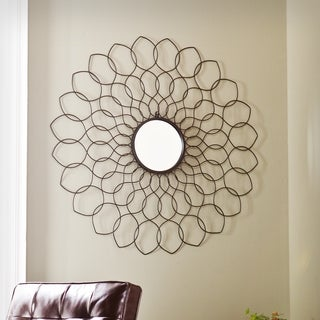 Upton Home Gia Spiro Mirrored Wall Sculpture