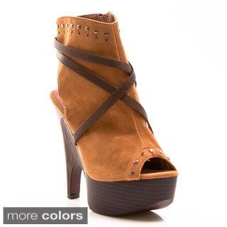 Gomax Women's 'Guista 08' Peep Toe Ankle Booties