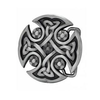 Celtic Cross Brushed Metal Belt Buckle
