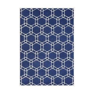 Hand-made Mazarin Blue Wool Rug (8' x 10')