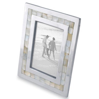 """Mother of Pearl Inlayed Aluminum Frame (5""""x7"""")"""