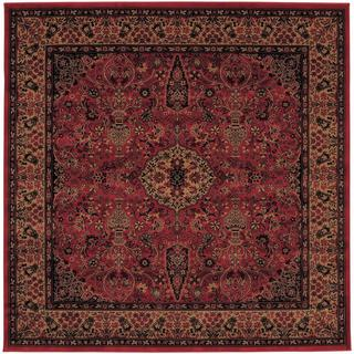Everest Ardebil/ Crimson Power-loomed Area Rug (5'3 x 5'3)