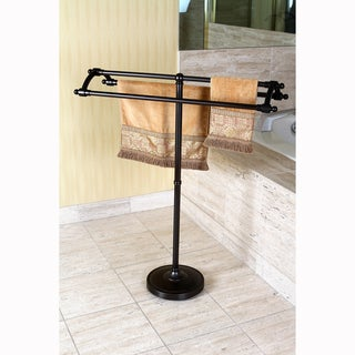 Oil Rubbed Bronze Pedestal Bath Towel Rack