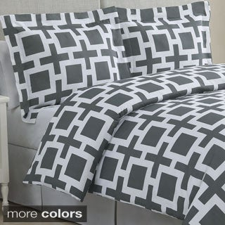 Echelon Home Links Cotton 3-piece Duvet Cover Set