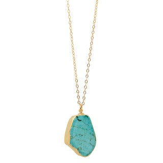 American Coin Treasures Gold Overlay Turquoise Magnesite Necklace