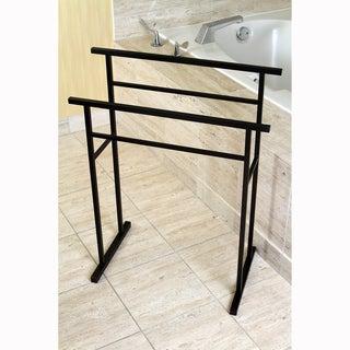 European Pedestal Oil Rubbed Bronze Bath Towel Rack