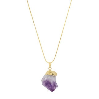 American Coin Treasures Copper Amethyst Point Crystal Necklace