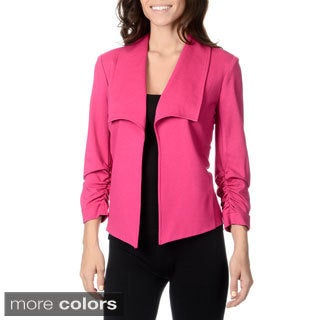 Chelsea & Theodore Women's Solid Ponte Fashion Blazer