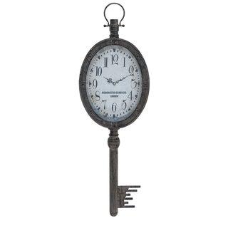 Manchester Clock Company Weathered Key Hanging Wall Clock