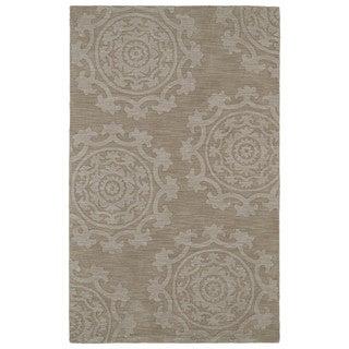 Trends Suzani Light Brown Wool Rug (5'0 x 8'0)