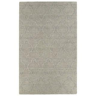 Trends Oatmeal Prints Wool Rug (9'6 x 13'6)