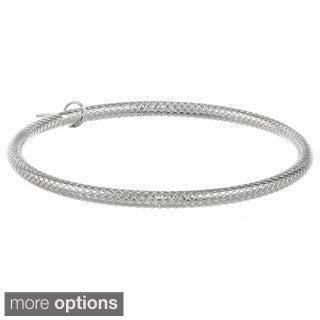 Stainless Steel Diamond-cut 5-mm Bangle Bracelet