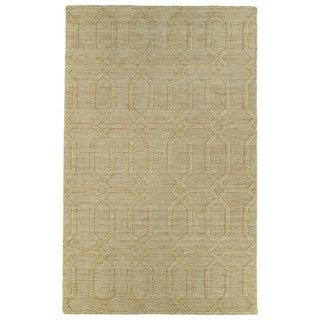 Trends Yellow Pop Wool Rug (9'6 x 13'6)
