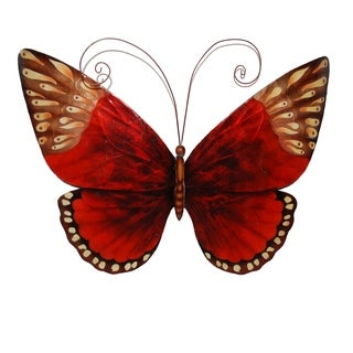 Handcrafted Red Butterfly Wall Art (Philippines)