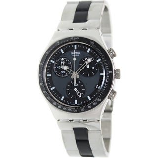 Swatch Men's Irony YCS410GX Silver Stainless-Steel Quartz Watch with Black Dial