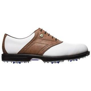 Footjoy Men's Superlites Tan and White Saddle Golf Shoes