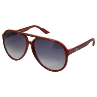 Gucci Unisex '1627/S' Red Plastic Aviator Sunglasses