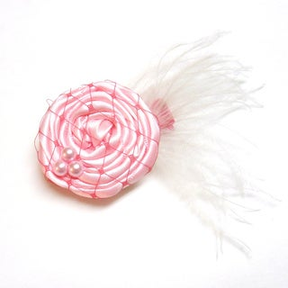 Bow Clippeez 2 Envy Boutique Vintage Netted Pearl Flower Clip