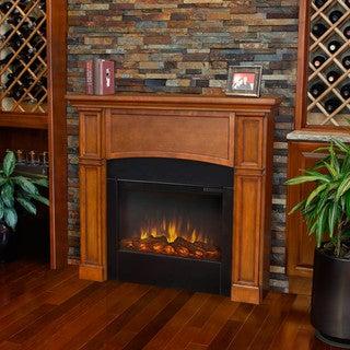 Real Flame Pecan Bradford Electric Fireplace