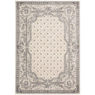 kathy ireland by Nourison Villa Retreat Ivory Grey Rug (7'9 x 10'10)