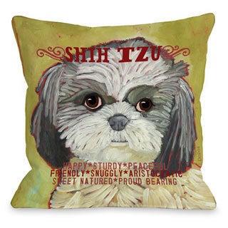 Shih Tzu Decorative Throw Pillow