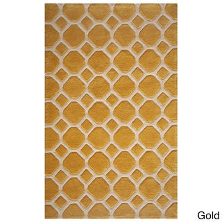 Honeycomb Gold Hand-Tufted Rug (8' x 10')
