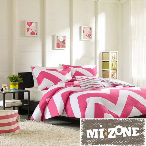 Mi Zone Virgo Reversible 4-piece Duvet Cover Set