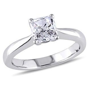 Miadora Platinum 4/5ct Asscher Cut Diamond Ring (G,VS1) (GIA)