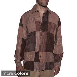 Men's Patch Cotton Buttoned Down Casual Shirt (Nepal)