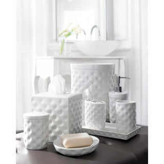Classic White Porcelain Bath Accessory Collection
