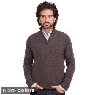 Luigi Baldo Italian Made Men's Cashmere 1/4 Zip Sweater