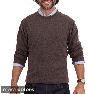 Luigi Baldo Italian Made Men's Cashmere Crew Neck Sweater
