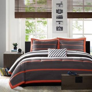 Mi Zone Jonah Striped 4-piece Comforter Set