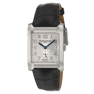 Baume and Mercier Men's 'Hampton' Stainless Steel Swiss Automatic Watch